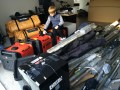 K5GS grandson Jaydon checking out the generators