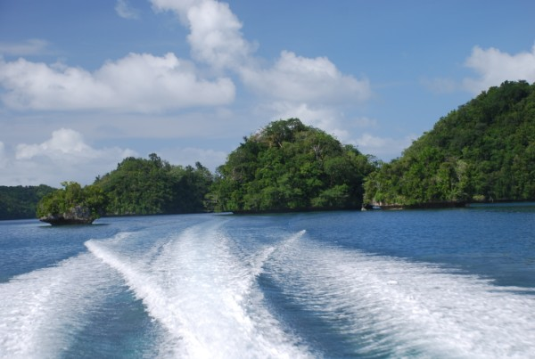 On the way to the Rock Islands